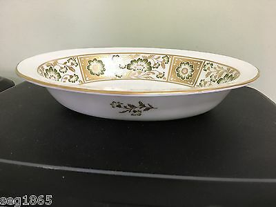 Royal Crown Derby Green Panel Open Oval Vegetable Serving Dish /bowl 1St Quality
