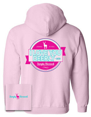 Love You Dearly Hooded Sweatshirt, Pink, X-Large