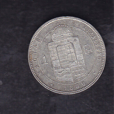 1880 Hungary Silver Forint