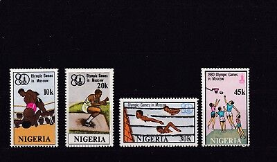 a130 - NIGERIA - SG406-409 MNH 1980 OLYMPIC GAMES MOSCOW