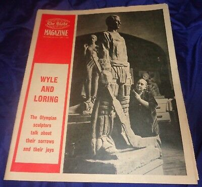 SE833 Vtg The Toronto ON Globe & Mail Weekly Magazine Newspaper April 7 1962