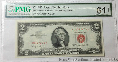 PMG 1963 $2 Two Dollar UNC 64 EPQ Legal Tender United States Currency Note