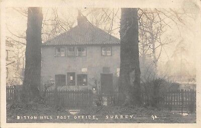 Surrey Surbiton Ditton Hill Post Office House & 2 Tall Trees Photo Card