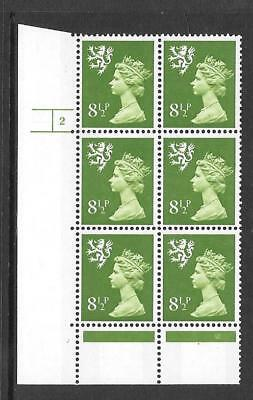 Scotland - 8½p - XS50 - cylinder block of 6 - cyl 2 NO DOT ph 17 - umm