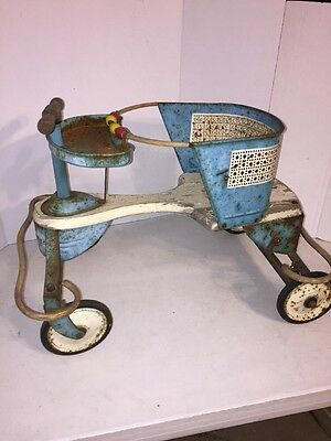 Vintage Taylor Tot baby stroller. Solid metal frame! Working wheels.