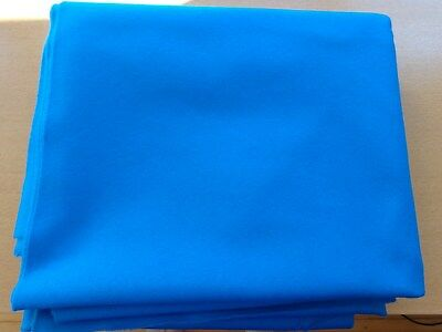 Electric Blue 6811 Sub Standard Wool Pool Table Cloth 7X4 Bed & Cushion Cloth