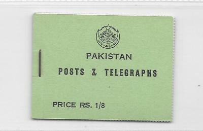 Pakistan - 1956 - RS 1/8 stitched booklet - SB1  - unmounted mint