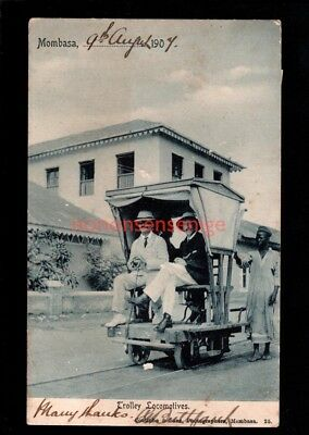 British East Africa MOMBASA TROLLEY LOCOMOTIVES Coutinho & Sons Shop 1907 Cds 03