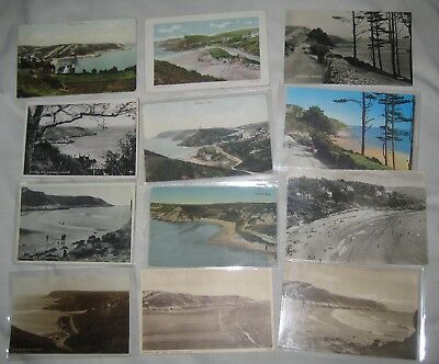 CASWELL BAY Swansea Glamorgan collection job lot x12 vintage seaside POSTCARDS