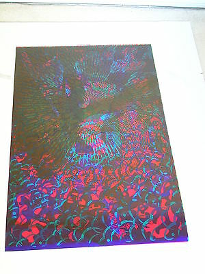 ETW PSYCHEDELIC Poster WHITE RABBIT, PIG PEN Overprinted GATES OF EDEN