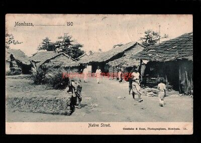 BEA British East Africa MOMBASA NATIVE STREET Coutinho 1909 6 x 1c Brown Cds -09