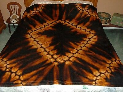 Antique Vtg Abstract Diamond Starburst Chase Wool Carriage Buggy Lap Blanket