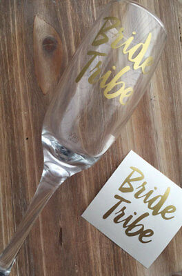 BRIDE TRIBE Decal Sticker Hen Party Weekend Glass Prosecco Wine Cocktail Gin