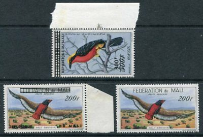 MALI 1960 AIRMAIL BIRDS MNH to 300F 3 Stamps