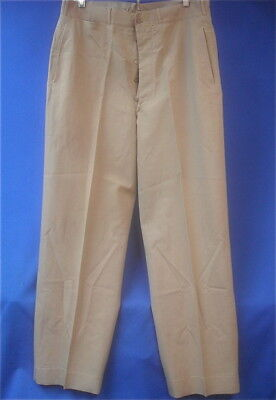 WWII US Army Officer's Khaki Wool Uniform Trousers,  34 x 31,   Original