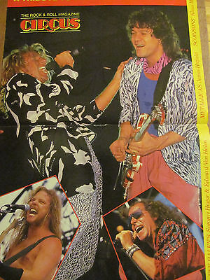Van Halen, Two Page Vintage Centerfold Poster