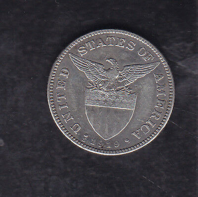 1919 S  Philippines Silver 50 Cents