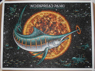 Widespread Panic 2017 St Augustine FL Todd Slater Signed AP Screen Print Poster