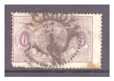 Sweden 1874 6 ore lilac OFFICIAL used SGD31a spacefiller