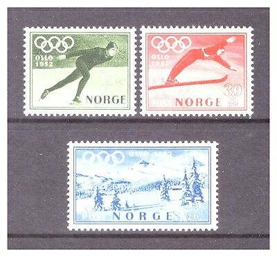 Norway 1951 6th Winter Olympic Games 'Oslo 1952' set MM/MH SG434-436