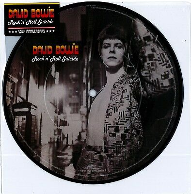 """David Bowie - Rock 'n' Roll Suicide Ltd 7"""" picture disc New Sealed 2014 RSD"""