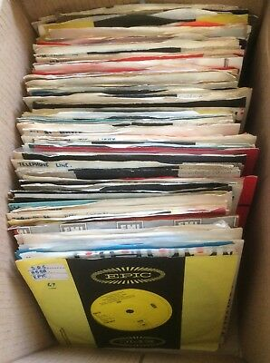 "JOB LOT 103 1970's 7"" SINGLE RECORDS ARTISTS LISTED POP ROCK PROG VG TO EX (A)"