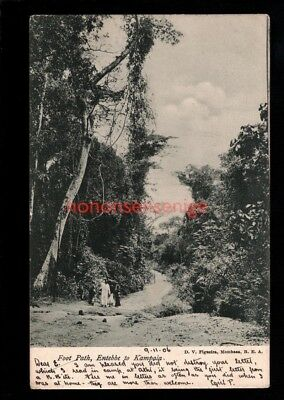 BEA British East Africa FOOTPATH ENTEBBE TO KAMPALA Figueira POSTCARD 1906 - 49