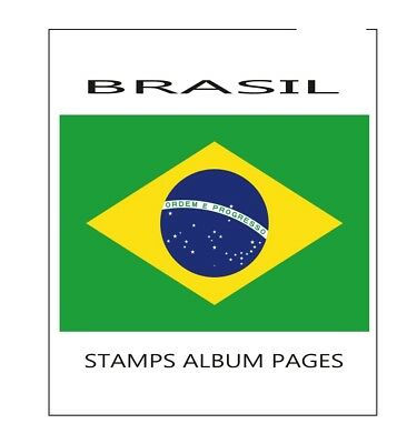 Brasil album pages Filkasol - 2010-2015 year (NOT STAMPS) + HAWID protectors