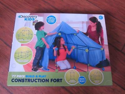 New Discovery Kids 77 piece construction fort play set tunnel tent