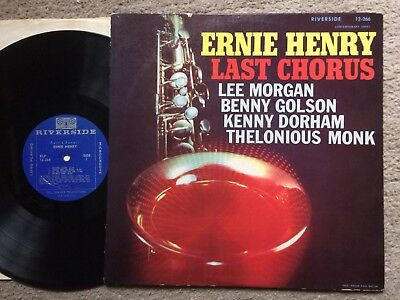 "Ernie Henry:""last Chorus"".1958 Usa Riverside Mono+Grooved Labels.inc.lee Morgan"