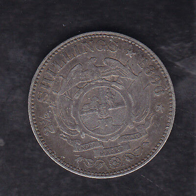 1896 South Africa (Z.a.r.) Silver 2 1/2 Shillings