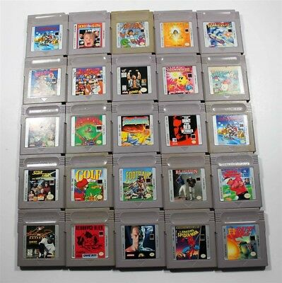 Lot of 25 Original Game Boy Games