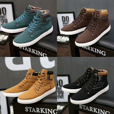 72992e90 MEN'S CASUAL High Top Fashion Sneakers Ankle Boots Lace Up Martin Skate  Shoes