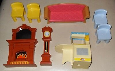 Little Tikes Furniture inc Grand Father Clock and Sofa used condition