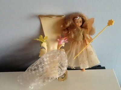 vintage Hornby Flower Fairie - Princess with her throne, crown, wand and cloak