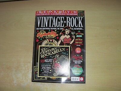 Vintage Rock Magazine Iss 32 Nov/dec 2017 + Free 23 Track Rockabilly Cd!