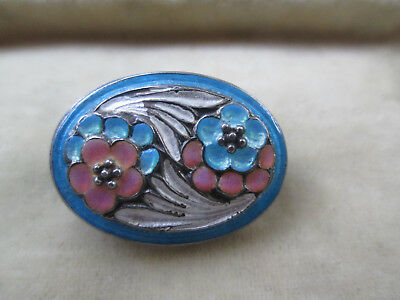 Antique Art Nouveau Enamelled Brooch Pin
