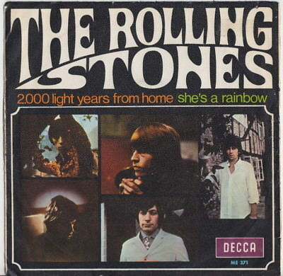 The ROLLING STONES * 2,000 Light Years From Home * 1967 Spanish 45 * PSYCH
