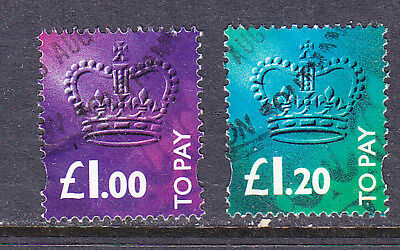 GB Postage Due stamps -1994 £1, £1.20 Used - Collection odds