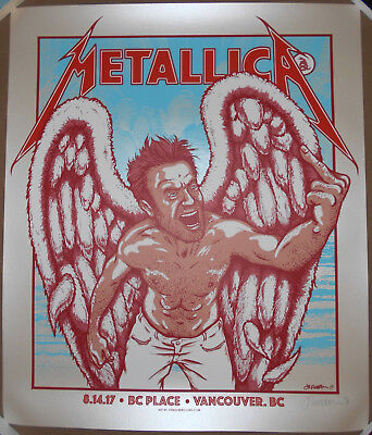 Metallica 2017 Vancouver BC Canada Screen Print Poster Jermaine Rogers Signed AP