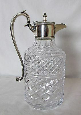 Stately Antique Silver Plated Wine Ewer Very Fine Piece