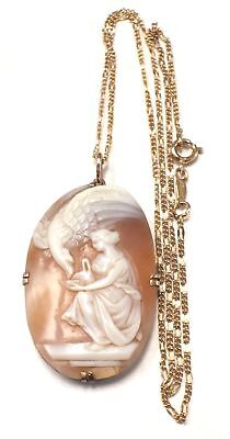 14k GOLD FILLED Beautiful Cameo Style Pendant Necklace - C47