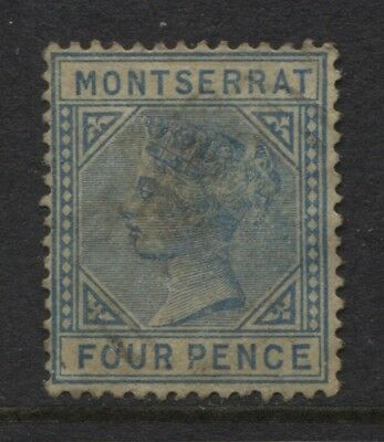 Montserrat 1884 4d Blue Crown CA P14 Sc #9 Used CV $300