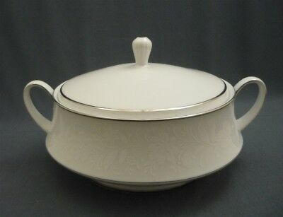 "RANIER Pattern 6909 Noritake Bone China 9"" COVERED SERVING DISH Platinum Japan"