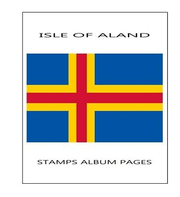 Aland Stamps album pages Filkasol - 2016 years (NOT STAMPS) + HAWID protectors