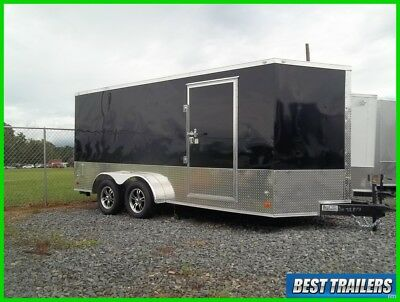 2017 7 x 16 sport package New enclosed cargo motorcycle trailer finished 7x16