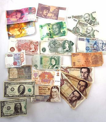 Vintage/Retro Collection of Various World BANKNOTES Paper Currency  - W21