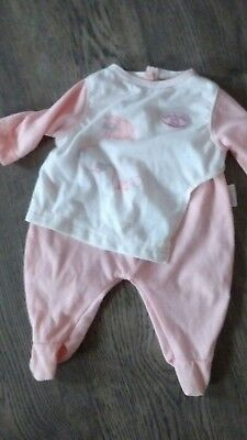 baby annabell doll sleepsuit