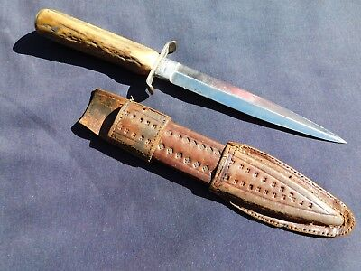 Vintage 1890s Fighting Knife Bowie Dagger WWII US Soldier Use