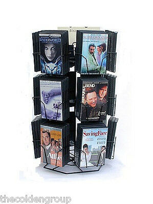 Planet Racks 12 Pocket DVD Counter Wire Display - Black - Holds 48